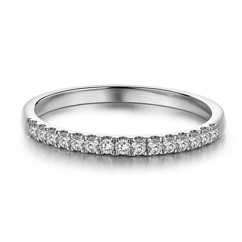 Élégant 18K or blanc jaune Rose or véritable diamant empilable anneaux de mariage bandes de mariage haut de gamme pour les femmes personnalisation