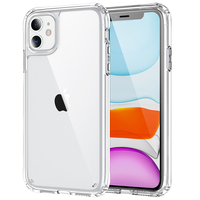 Funda híbrida transparente para iPhone, funda protectora de acrílico para iPhone 11 Pro Max 12 Mini X XR XS 8 Plus 7 SE 2020 6S