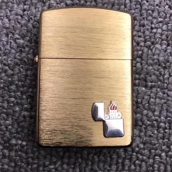 Metalowa plakietka na zapalniczka na naftę zapalniczka olejowa DIY Handmade palacz akcesoria gadżety zapalniczki płomień akcesoria do wystroju wnętrz tanie i dobre opinie CN (pochodzenie)