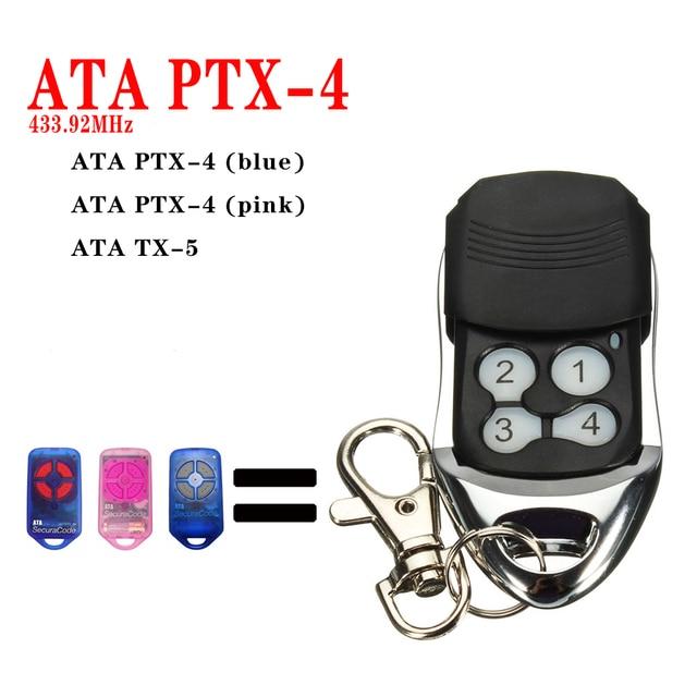 ATA PTX4 תואם שער שלט רחוק GDO 2v 5/2v 6/2v 7/4v 3/4v 4/4v 5/4v 6/6v1 מתג דלת מוסך פותחן שקופיות כיסוי כחול LED אור