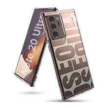 Ringke – coque en Silicone pour Galaxy Note 20 Ultra, cadre Flexible en Tpu, dos rigide et Transparent, hybride