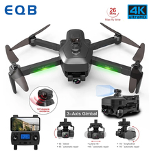 EQB GPS RC Drone with 3 Axis Gimbal Professional HD EIS 4K Camera Profissional Obstacle Avoidance Quadcopter 5G Dron