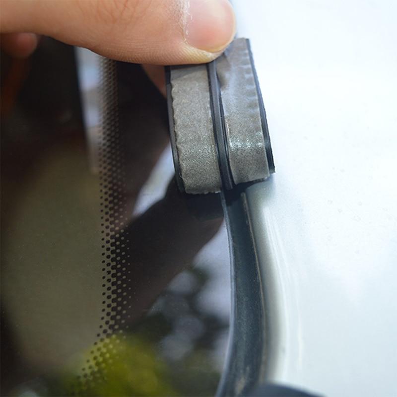 14mm/19mm Car Front Rear Windshield Sticker Car Window Sealant Rubber Stickers Sunroof Triangular Window Sealed Strips Seal Trim