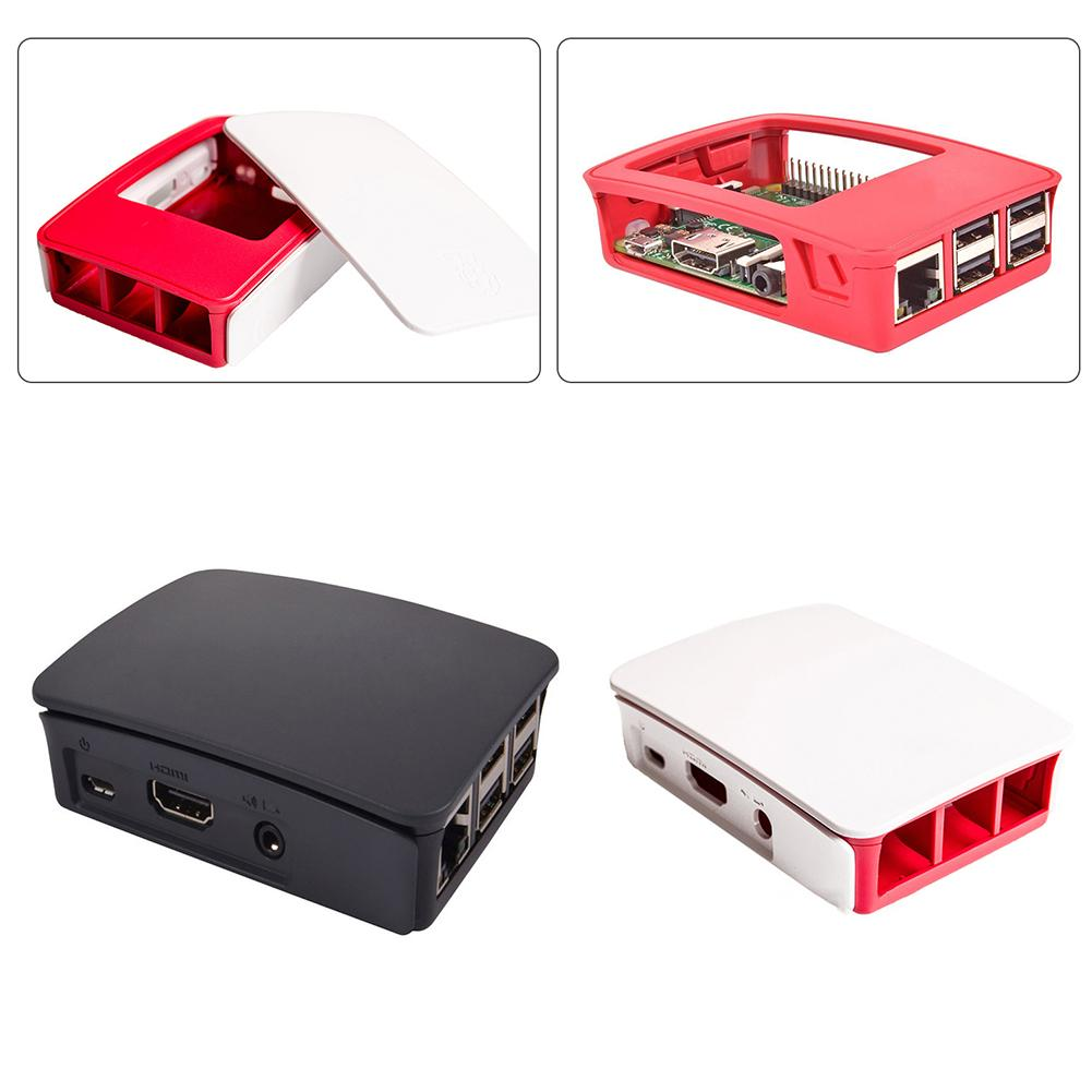 Waterproof CPU Holder Black Enclosure Case Empty Box Shell Housing For Raspberry Pi Case 2 3 Generation CPU Stand With Wheels
