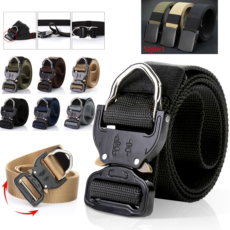 Men's Belts Outdoor Sport Belts Adjustable For Hunting Canvas Belt Male Trousers Accessories Belt