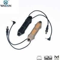 Wadsn softair tático botão interruptor duplo de pressão aumentada para PEQ-15 PEQ-16A um peq airsoft armas dbal 2 arma luz