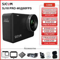 SJCAM-Cámara de acción SJ10 Pro, 4K, 60fps, WiFi, estabilizador giroscópico supersuave, Chip Ambarella H22, 10m, cuerpo impermeable, Sprots DV