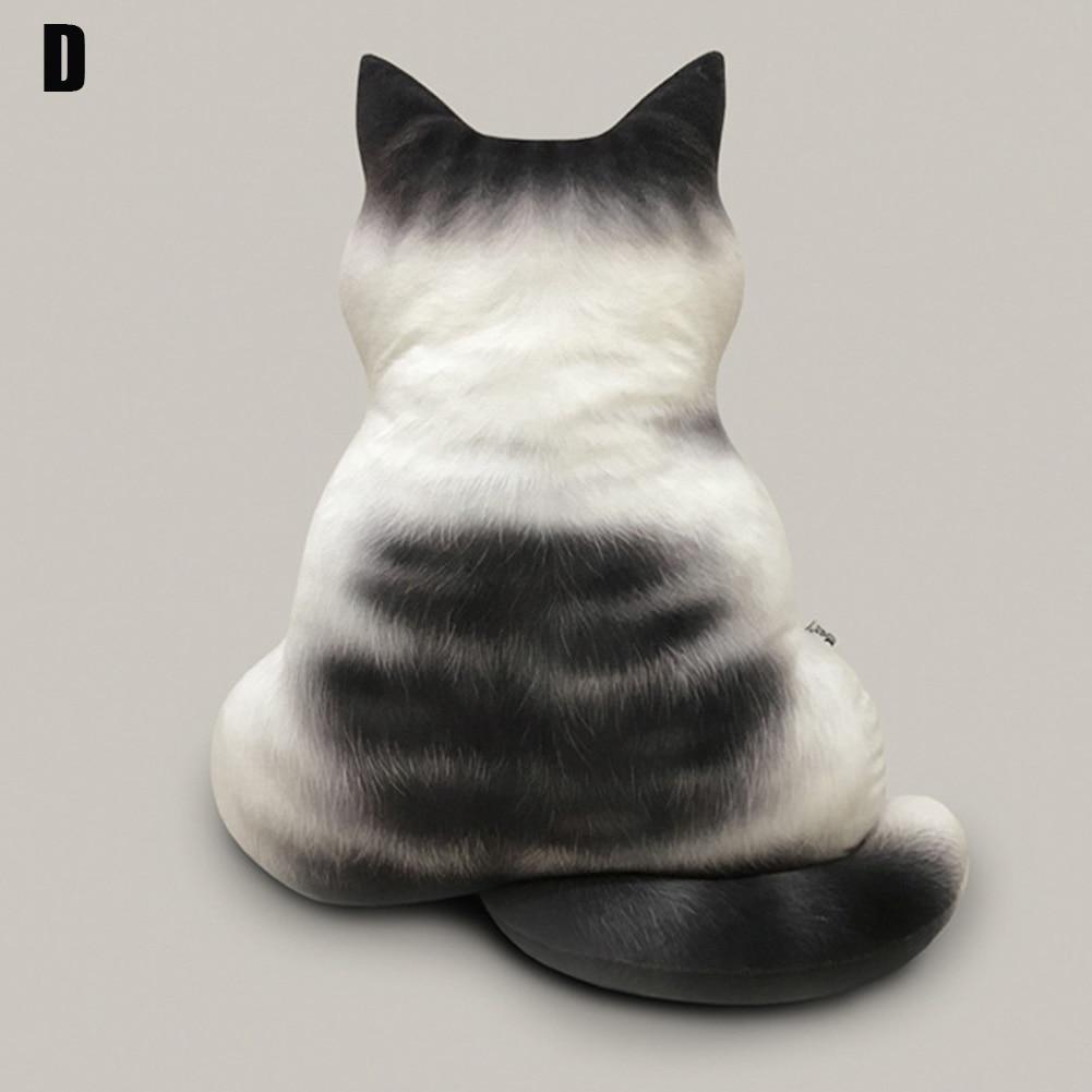 43 см мягкие кошки Подушка силуэт короткие плюшевые PP хлопок плюшевые куклы игрушки кошки подушка милый подарок - Цвет: D