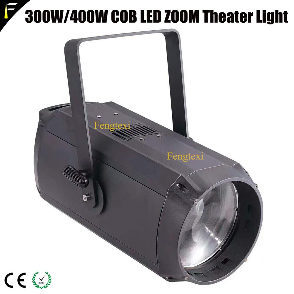 6200lux/5 Meter 300w LED COB Zoom 10~60 Degree Theater Spot Remote Back Surface Light 3200K/5600K Super Bright Large Performance