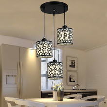 Luces colgantes nórdicas modernas accesorios hierro ahuecan hacia fuera la lámpara colgante tipo araña decoración del hogar para comedor dormitorio tienda Bar