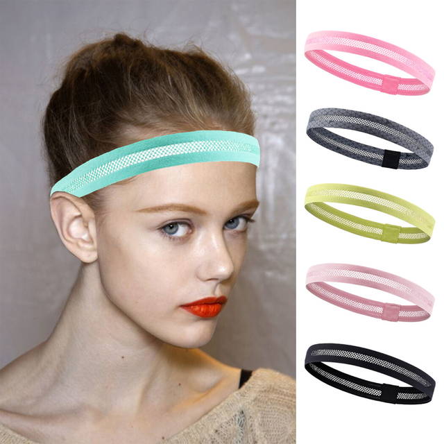 Hollow breathable sports headband running fitness non-slip antiperspirant belt riding pedal sports hair belt guide sweat belt