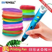 цена на myriwell 3d pen 3d pens,1.75mm ABS/PLA Filament,3 d pen3d model,Creative3d printing pen,Best Gift for Kids DIY creative,pen-3d