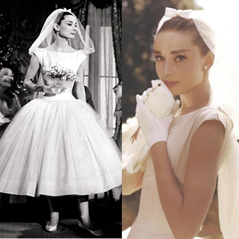 Vintage Wedding Dresses Vestido De Noiva Scoop Neck Cap Sleeve Short Bridal Gown Ball Gowns Robe De Mariee Wedding Dress Custom