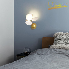Modern LED Wall Lamp Flower Branch Macaron Deco Small Lamp Fixtures Nordic Bedside Corridor Wall Aisle Sconces Bedroom Wall Lamp bokt modern style e27 led wall lamps nordic macaron wall lights for passage corridor bedroom bedside lamp wall sconces ac90 260v
