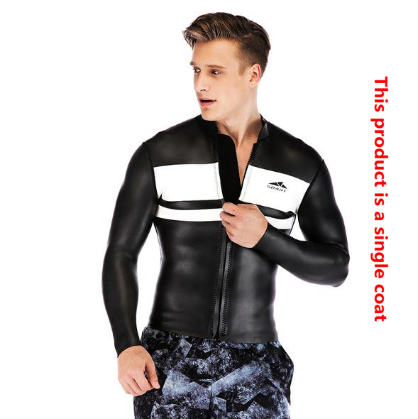 SBART Diving-Suit Zipper-Body Men's 3MM Snorkeling Long-Sleeve Cold-Protection Warm Winter