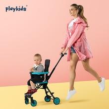 Hot 3.7kg Light Baby Stroller Simple Trolley High Landscape Carriage Lightweight Folding Two-way Kids Cart