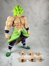 цена на 18cm japanese anime Dragon ball Z Super Saiyan Broli PVC Action Figure Toys SHF Broli collectible Model Toys Christmas gift