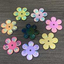 8g handcraft sequins 24mm flower shape pvc Dancewear  hall decorated gift Kindergarten handicraft
