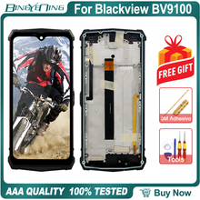 100% Original Für Blackview BV9100 LCD & touchscreen Digitizer mit rahmen Fingerprint sensor display modul Reparatur Ersatz