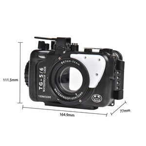 Image 5 - Underwater Camera Case For Olympus TG5 TG6 Waterproof Aluminum alloy Protective Cover with Vacuum System Big Promotion 1 sets