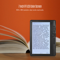 7 inch Ebook Reader 4GB/8GB/16GB Memory add Sets with HD Resolution E book +Video+MP3 Music player Color screen E reader