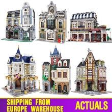 MOC 10218 Streetview Bausteine Kompatibel Mit MOC 18923 Buch Geschäft Alten Stadt Pub Victor der Lab Set Als Kinder Weihnachten geschenke