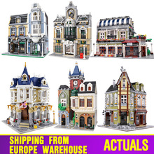 MOC 10218 Streetview Building Blocks Compatible With MOC 18923 Book Shop Old Town Pub Victors Lab Set As Kids Christmas Gifts