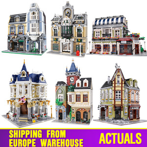 Image 1 - MOC 10218 Streetview Building Blocks Compatible With MOC 18923 Book Shop Old Town Pub Victors Lab Set As Kids Christmas Gifts