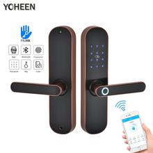 YOHEEN Fingerprint Lock Smart Card Digital Code Electronic Door Lock B