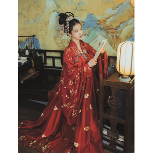 Image 3 - Red Hanfu Dress Folk Dance Costume Chinese Traditional National Fairy Costume Ancient Han Dynasty Princess Stage Outfits SL1719