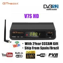 цена на Original Freesat V7S HD GTMEDIA V7S HD Satellite Receiver Full 1080P DVB-S2 HD Support 2 year Free Cccam Cline powervu Network
