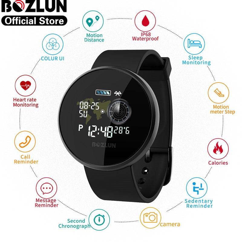 Reloj inteligente Bozlun IP68 a prueba de agua Monitor de ritmo cardíaco GPS Deporte Fitness Tracker reloj inteligente para hombre mujer reloj inteligente B36M