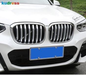 For BMW X3 X 3 2018 2019 accessories Car Front Grille Hood Engine Cover Trim ABS Matte Exterior Modification Parts