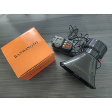 BANWINOTO Motorrad Auto Aufnahme Lautsprecher Horn Notfall Verstärker Hupe Sirene mit Mic PA System Notfall 7 Ton Ton 12V