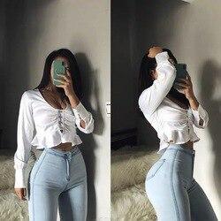 Женские джинсы с высокой талией, весенне-осенние сексуальные обтягивающие облегающие леггинсы с высокой эластичностью, модные и универсал...