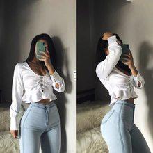 Jean esthétique taille haute pour femme, pantalon Sexy, serré, élastique, style Streetwear, 2000s