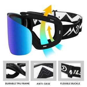 Image 4 - Wildmtain gm1 magnético óculos de neve dupla camada anti nevoeiro óculos de esqui, lente intercambiável uv400, masculino feminino crianças óculos de esqui
