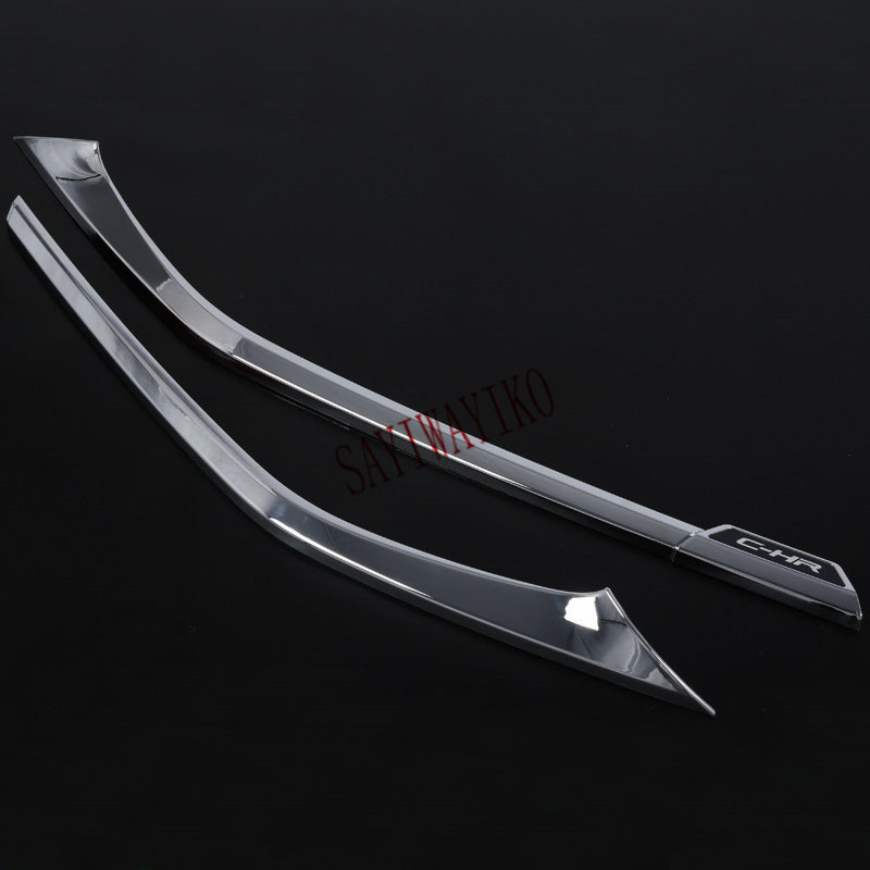 Image 2 - Fit for Toyota C HR CHR 2016 2017 2018 Front bumper Cover Trim Decoration ABS Chrome Car Accessories Auto Styling-in Chromium Styling from Automobiles & Motorcycles