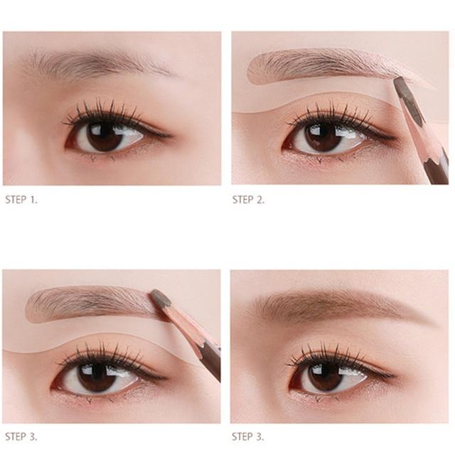 1Set Make Up Tools Eyebrow Stencil Eye Brow Shaping Eyebrow Ruler Eyebrow Trimmer Epilator Hair Remover Trimmer Scissors 2