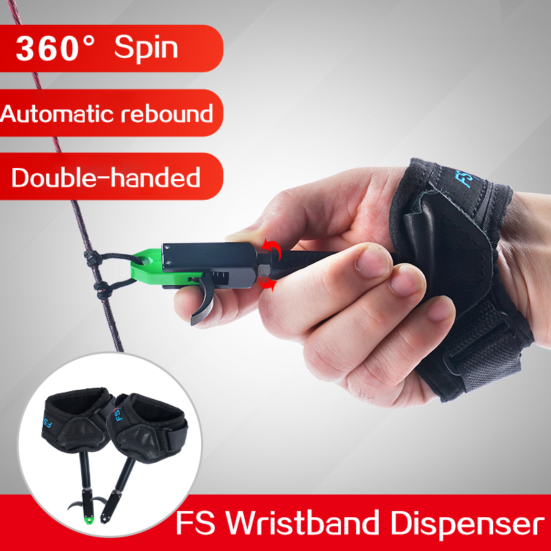 Outdoor 360 Degree Swivel Archery Wrist Release Aid Trigger for Compound Bow