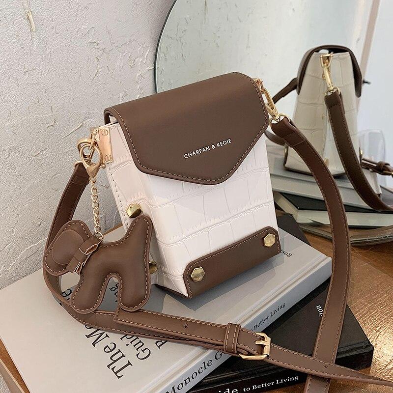С доставкой Kontras design Mini Kette PU Leder Umhängetaschen Frauen 2020 Branded Schulter Handtaschen Weibliche Reise Handtasche
