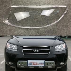 Image 1 - Автомобильная фара Объектив для Hyundai Santa Fe 2008 2009 2010 2011 2012 Автомобильная сменная крышка