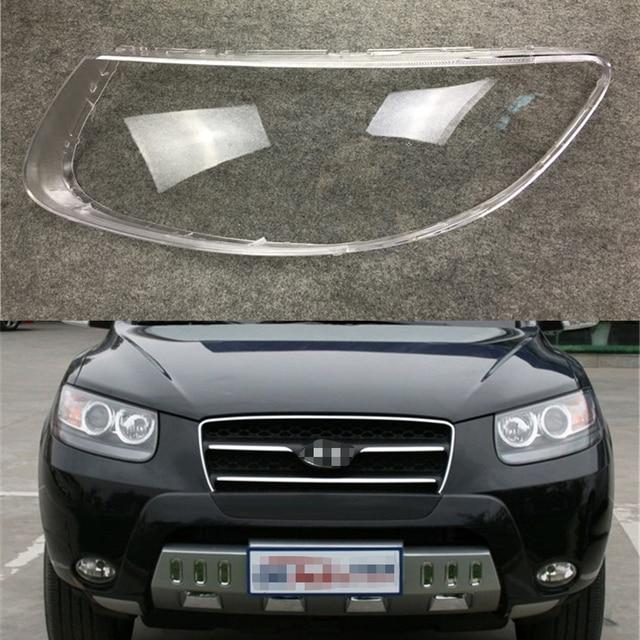 Автомобильная фара Объектив для Hyundai Santa Fe 2008 2009 2010 2011 2012 Автомобильная сменная крышка