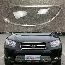 Lente de faro de coche para Hyundai Santa Fe 2008 2009 2010 2011 2012, carcasa de repuesto para coche