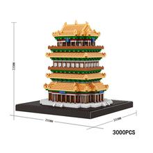 LegoINGlys creators city Street view ancient China Guanque tower mini micro diamond building blocks model bricks toys for gifts legoinglys city creators street view australia sydney opera house micro diamond building blocks model nano bricks toys for gifts