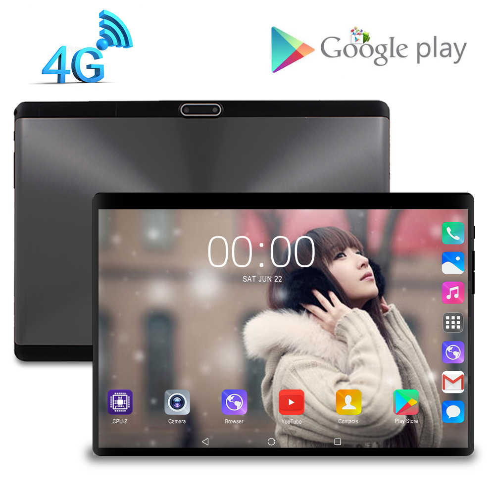 2020 Nieuwe Ontwerp 10.1 Inch De Tablet Android 9.0 8 Core 8 Gb + 128 Gb Rom Dual Camera 8MP sim Tablet Pc Wifi Gps 4G Lte Telefoon 10 9