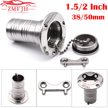 1.5″ and 2″ 38mm or 50mm 316 Stainless Steel Marine Boat Hardware Deck Filler Fuel Water Waste Diesel Gas Key Cap Fuel Water Was