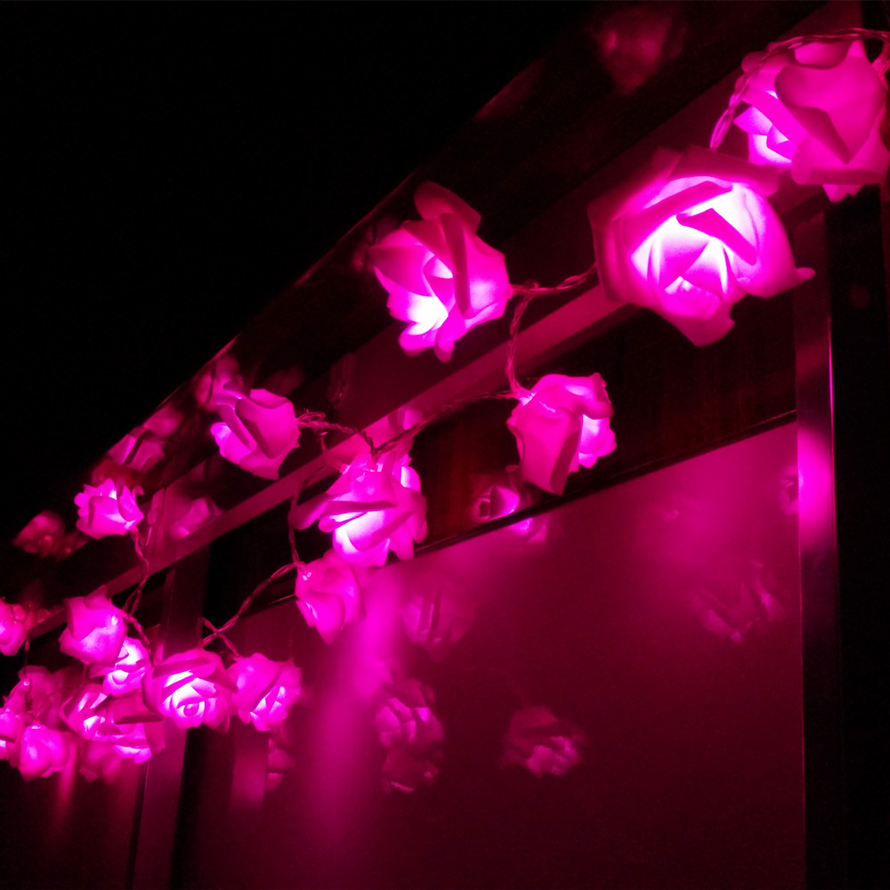 4M 5M LED Rose String Lights AA Battery For Holiday Event Wedding Valentine's Day Party Decoration Russian Big Sales
