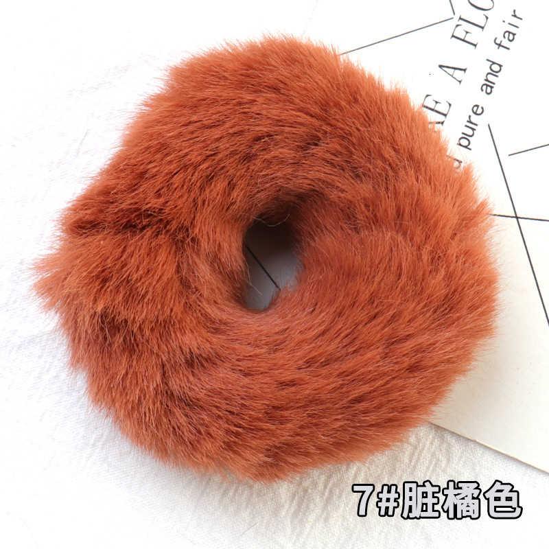 Winter Neue Flauschigen Mähne Große Haar Ring Dunkle Farbe Weiche Süße Pferdeschwanz Halter Haar Seil Haar zubehör für frauen mädchen
