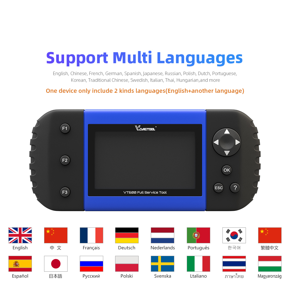 Image 2 - VDIAGTOOL Car Diagnostic VT600 OBD2 Scanner Tool working Brazil cars Engine ABS SRS EPB Coding OBD2 PK NT650 x100 pro crp129E-in Air Bag Scan Tools & Simulators from Automobiles & Motorcycles on
